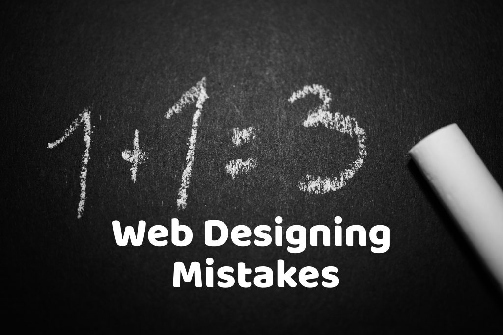 Web designing mistakes